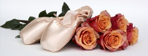 ballet shoes dance roses