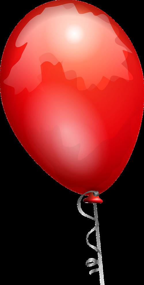 ballon red shiny