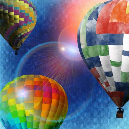 ballons colorful sun