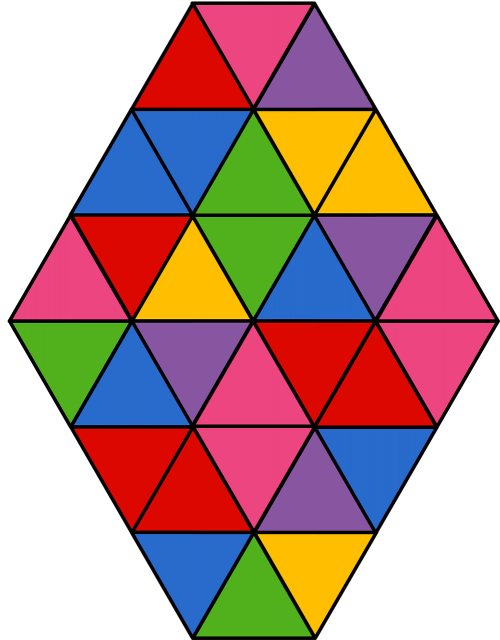 balloon triangles colorful