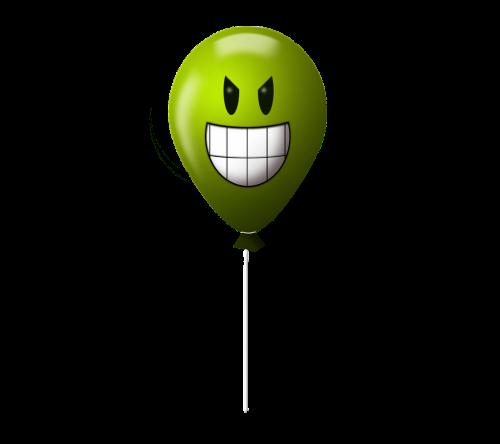 balloon emoticon evil
