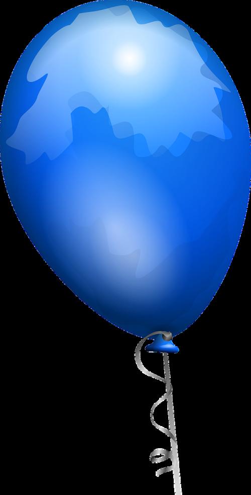 balloon blue shiny