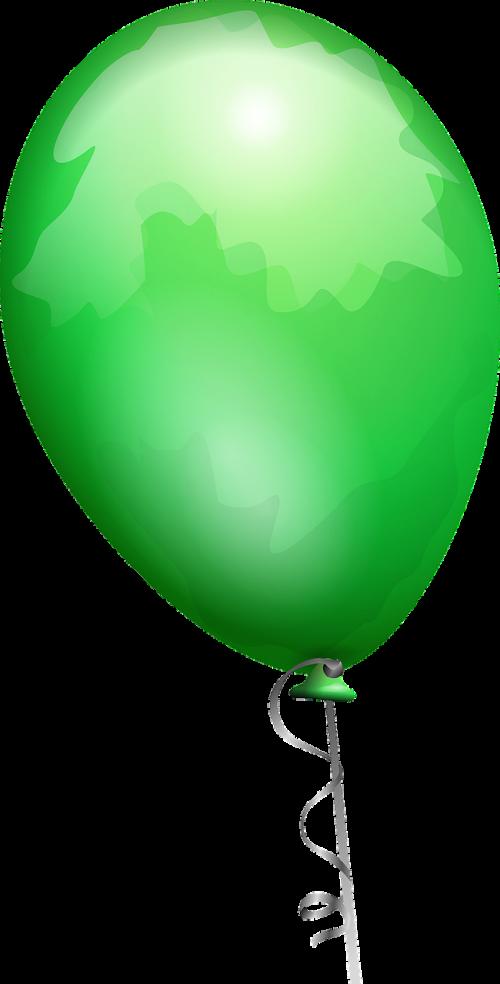 balloon green shiny