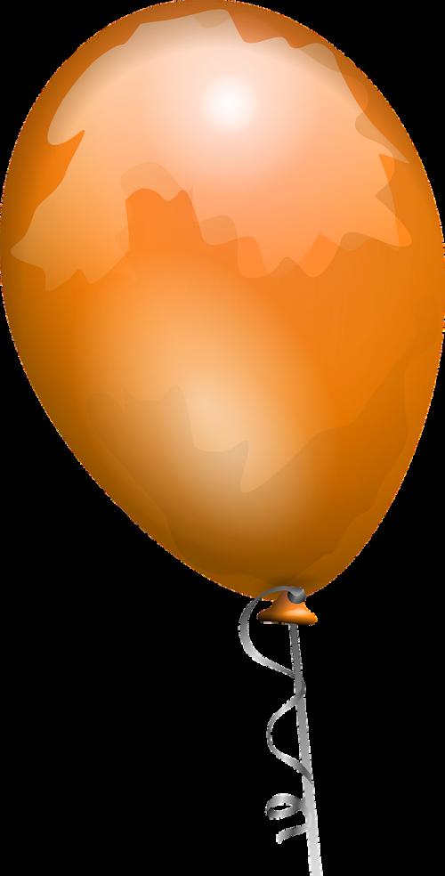balloon orange shiny