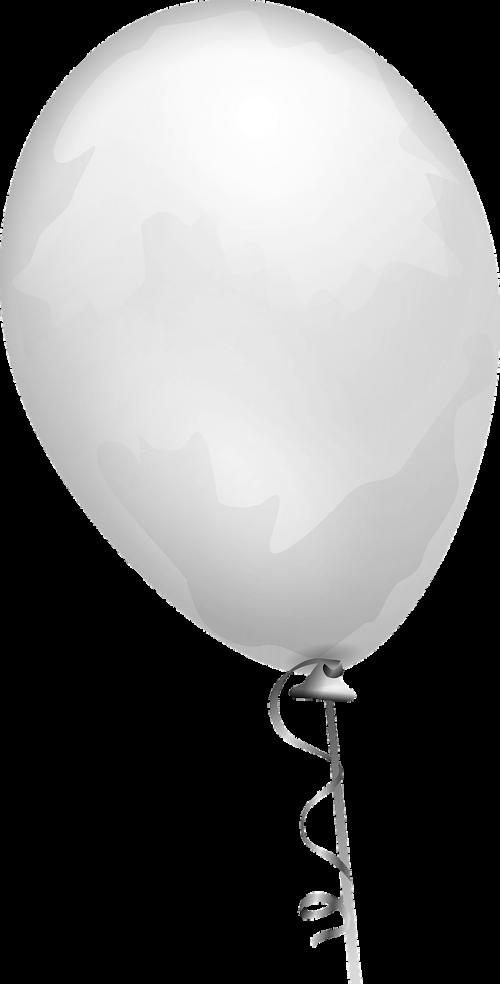 balloon white shiny