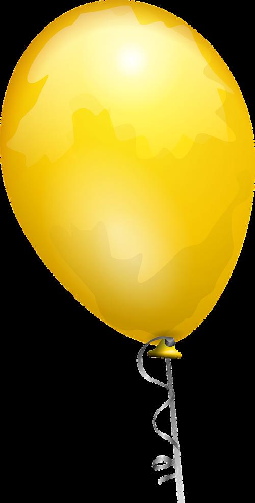 balloon yellow gold