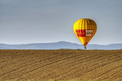 balloon hot air balloon field