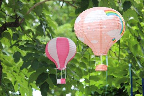 balloon  pink  azure
