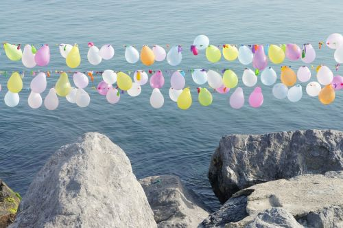 balloons color sea