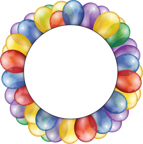 balloons,circle,frame,copy space,burst,festive,celebrate,celebration,birthday,anniversary,fathers day,father's day,holiday,event,red,yellow,green,purple,blue,happy,sale,grand,open,opening,festival,gift,fun,decoration,surprise,space,colorful,card,free vector graphics