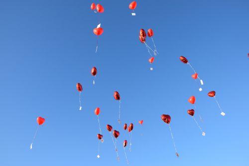 balloons sky blue
