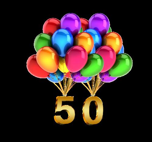 balloons birthday 50
