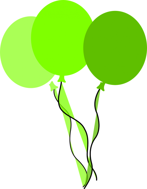 balloons green birthday party