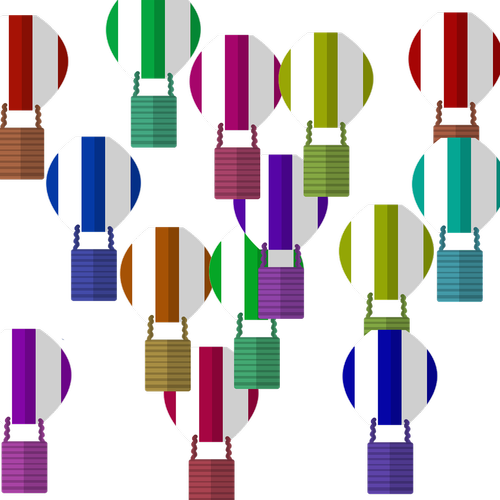 balloons  colorful balloons  illustrated balloons