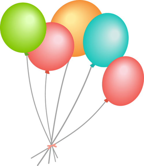 balloons  blue balloons  streamers