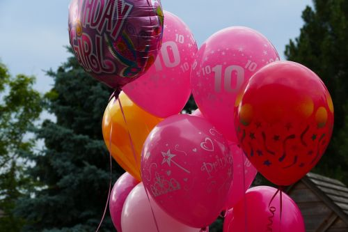 balloons birthday pink
