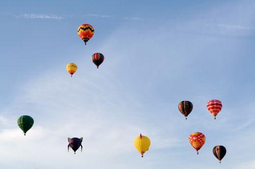 balloons joy of life sky