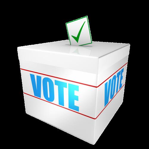 ballot box cut out voting