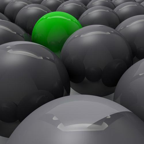 balls highlighting attention