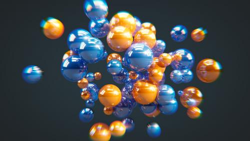 balls blue orange