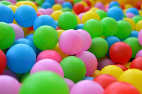 balls children's playground multicolored