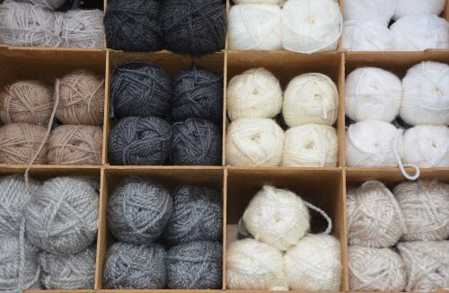 balls of wool colors grey