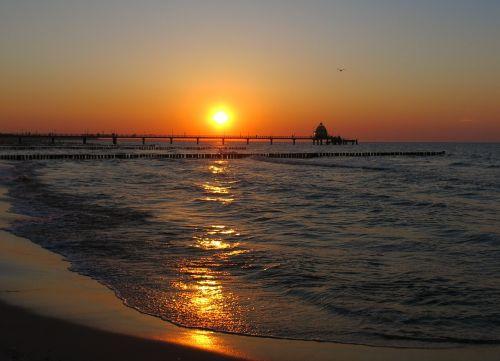 baltic sea zingst sunset