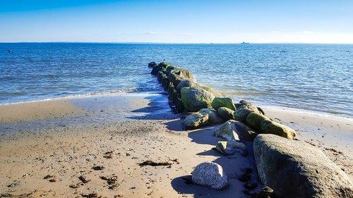 baltic sea  groyne  sea