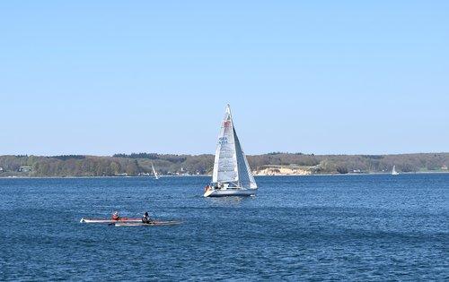 baltic sea  sea  sailing boat