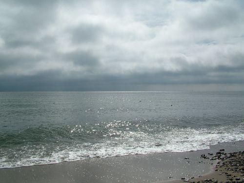 baltic sea beach clouds