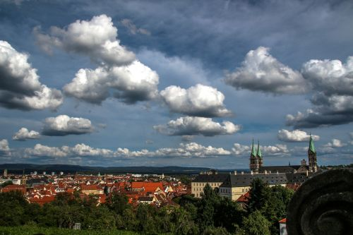 bamberg clouds sky