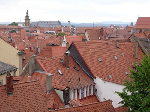 bamberg old town roofs