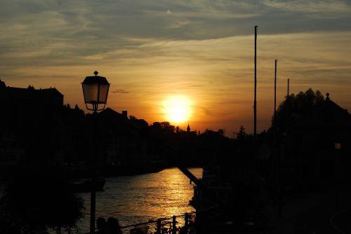bamberg river sunset