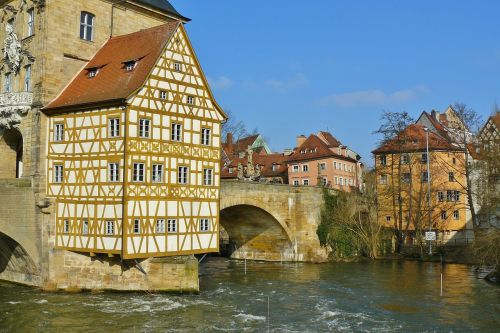 bamberg town hall city view rottmeister cottage