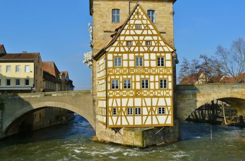 bamberg town hall city view