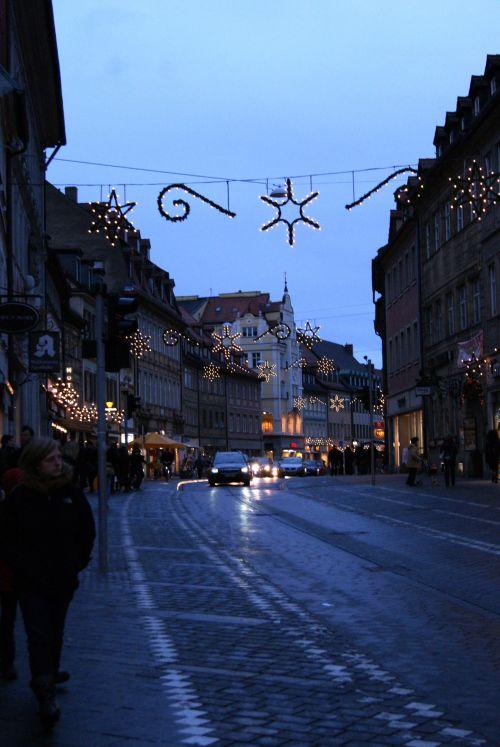 Bamberg Germany Night Street