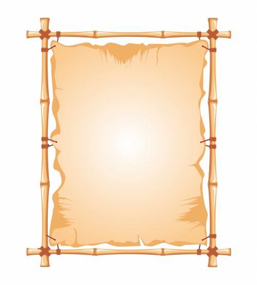 Bamboo Frame Clipart