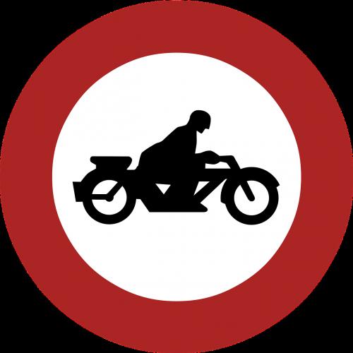 ban motorcycles forbidden