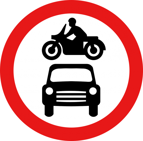 ban on driving motorcycle car