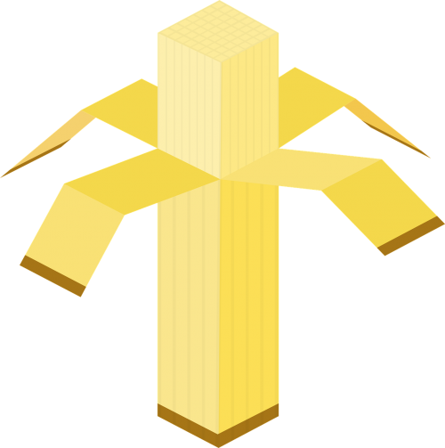 banana cube cubic