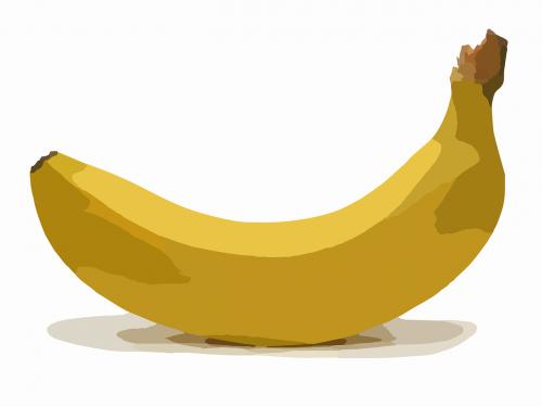 banana fruit bent