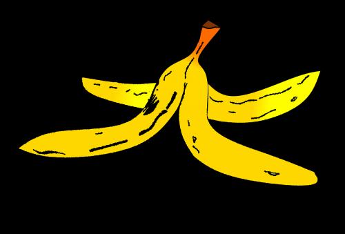 banana peel tripping hazard comic