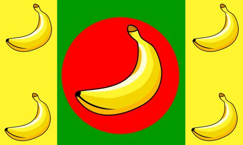 bananų respublika,vėliavos,geltona,raudona,žalias,juostelės,simboliai,ženklai,vaisiai,spalvinga,nemokama vektorinė grafika
