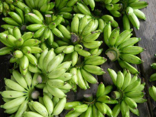 bananas fruits green