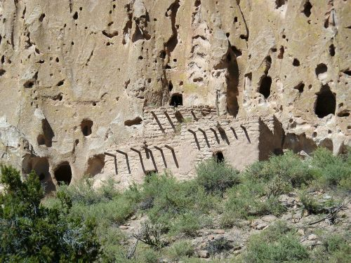 bandelier national monument new mexico usa