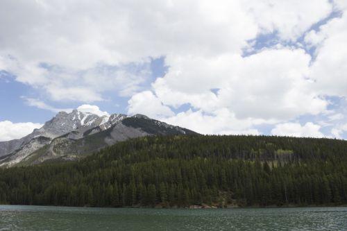 Banff Lake Minnewanka Mountains