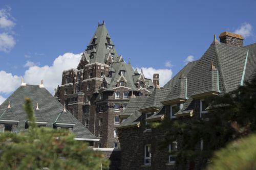 Banff Springs Hotel Mountains