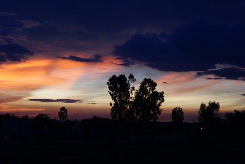 bangalore  india  dusk
