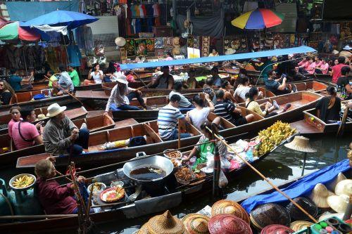 bangkok thailand floating market