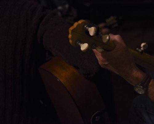 banjo, ranka, žaidėjas, naktis, izoliuotas, Iš arti, banjo player hand night